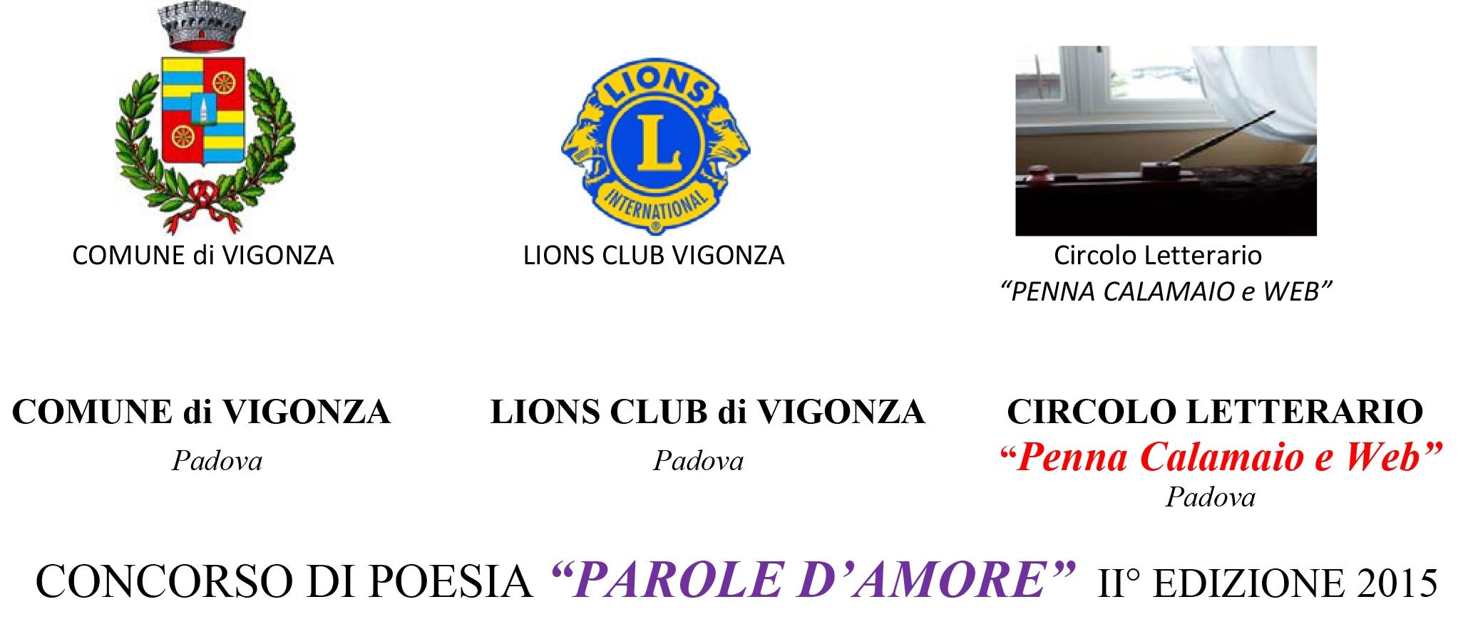 """VIGONZA 7 CAMPANILI: CONCORSO DI POESIA """"PAROLE D'AMORE"""" II° EDIZIONE 2015"""
