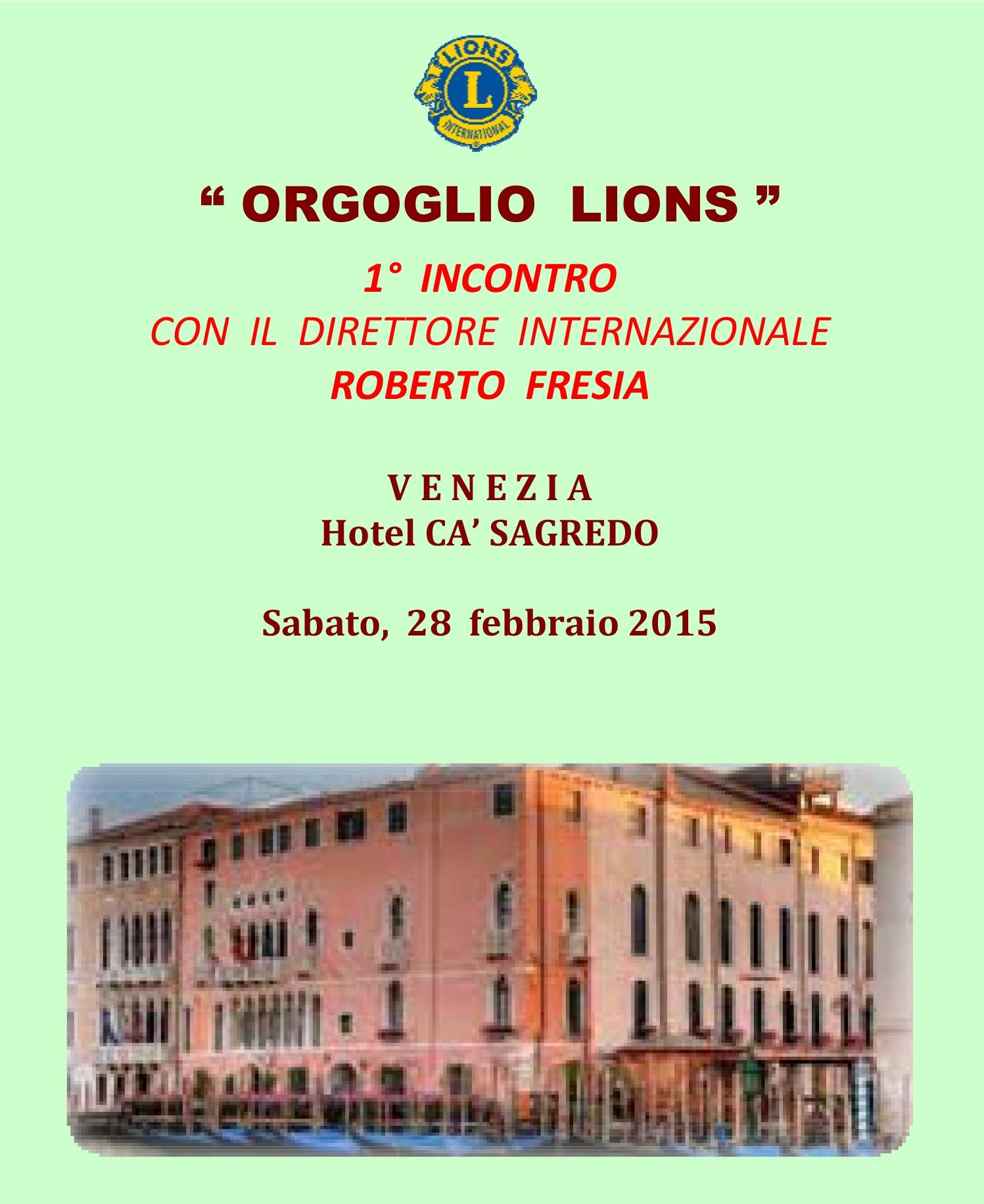 VENEZIA HOST: 1° incontro con Roberto Fresia, Direttore Internazionale