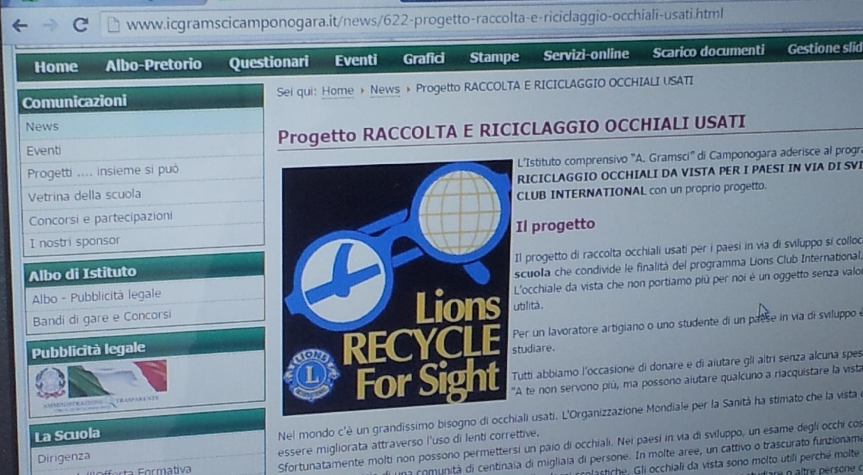 """STRA RIVIERA del BRENTA HOST: L'Istituto """"A. Gramsci"""" di Camponogara aderisce al Progetto RACCOLTA E RICICLAGGIO OCCHIALI DA VISTA"""