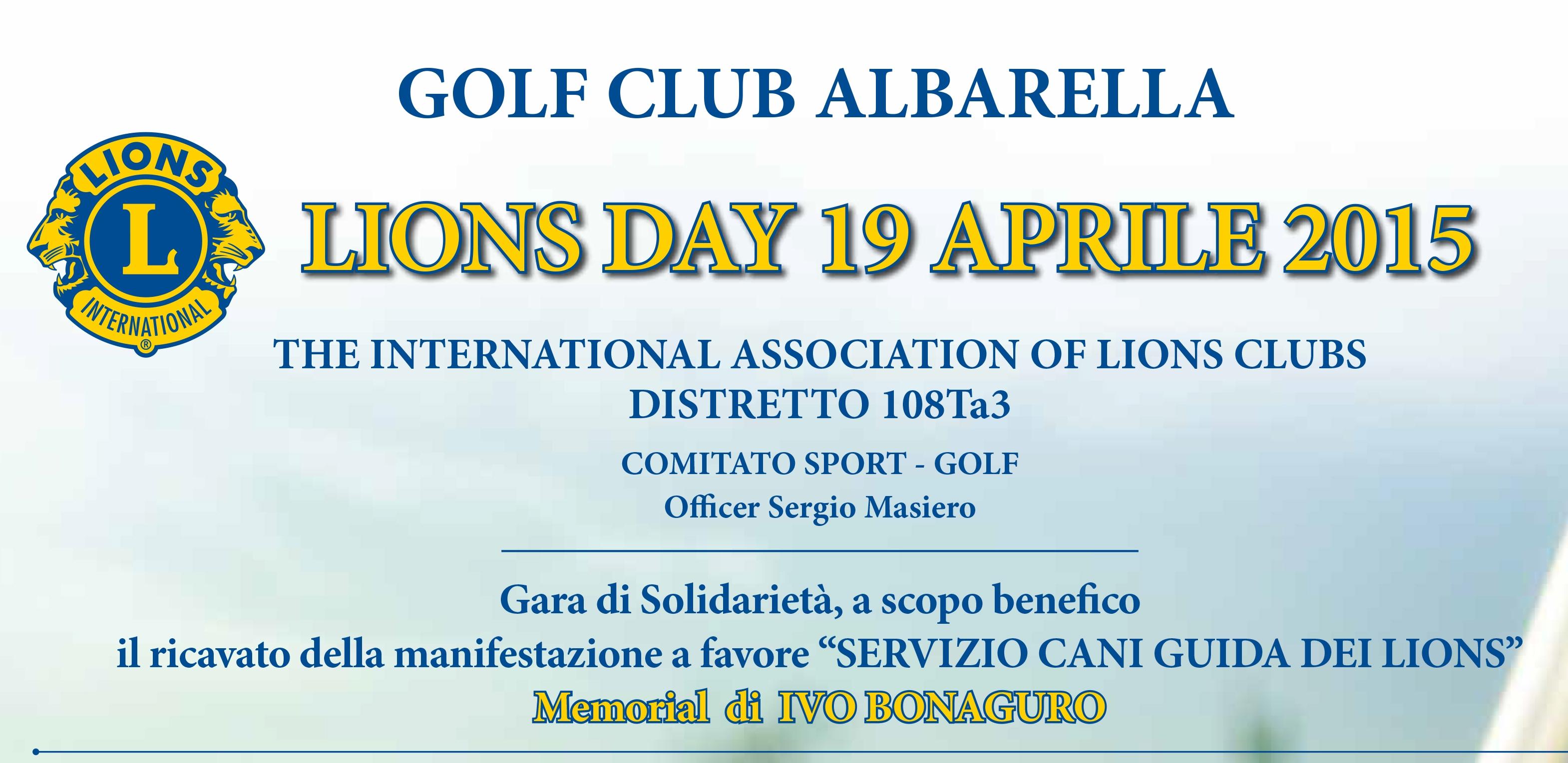 COMITATO SPORT Distretto 108 Ta3: LIONS DAY