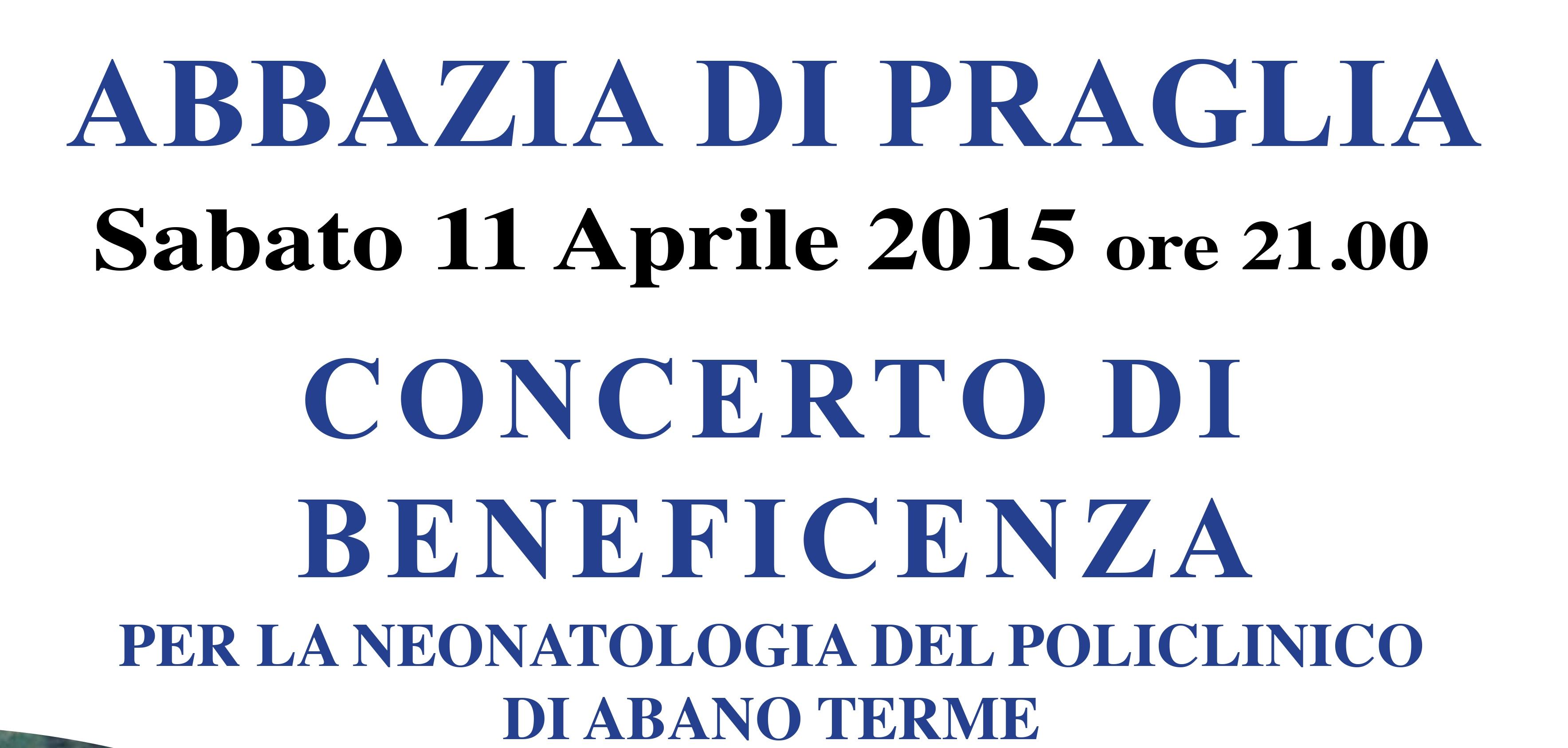 ABANO TERME EUGANEE: concerto a favore della Neonatologia del Policlinico di Abano