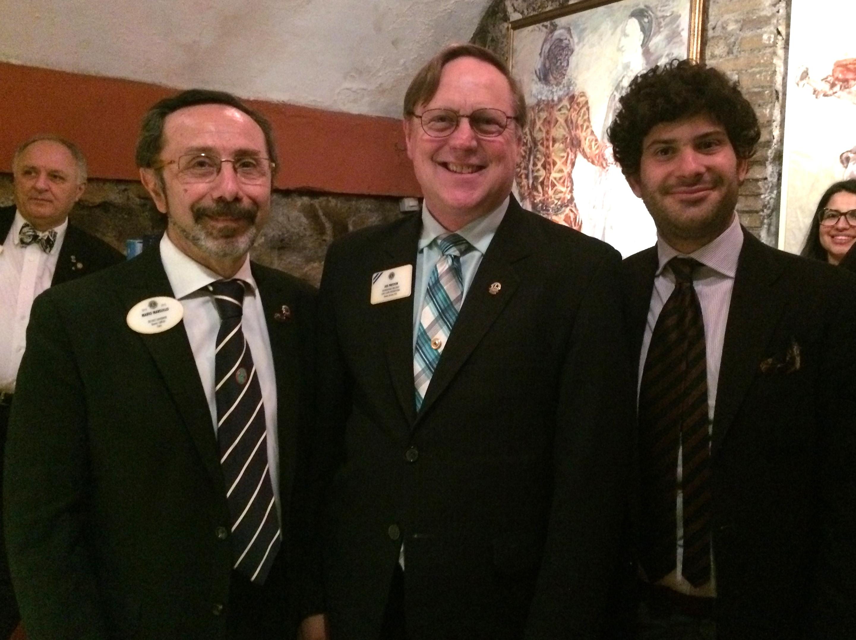 IL PRESIDENTE INTERNAZIONALE JOE PRESTON  incontra i Leo italiani