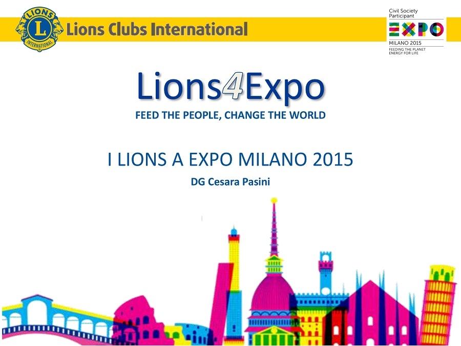 DISTRETTO 108 TA3: settimana di presidio del TA3 all' EXPO 2015