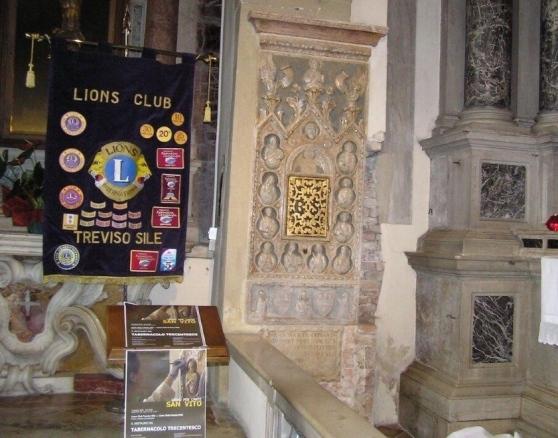 TREVISO SILE: San Vito, restaurato il tabernacolo del '300
