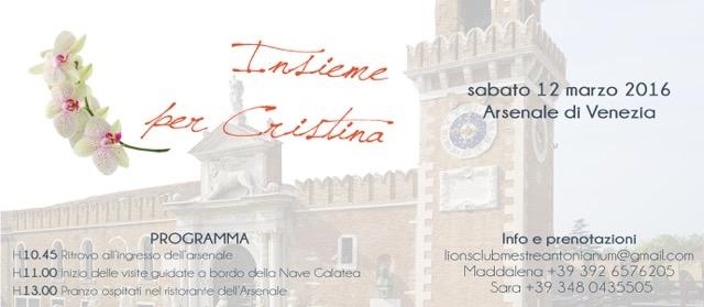 Lions Club Satellite Mestre Antonianum: Service per il Progetto Cristina