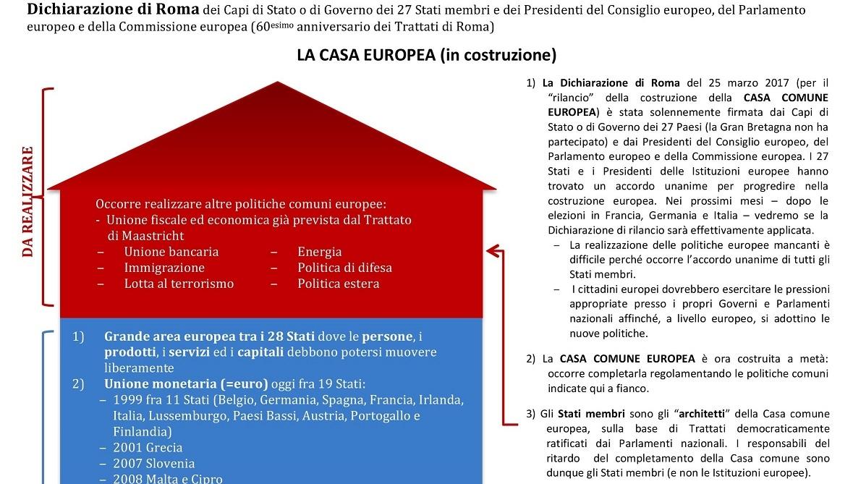 """DISTRETTO 108 TA3: DICHIARAZIONE """"LA CASA EUROPEA"""""""