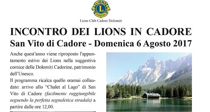 DISTRETTO 108 TA3: INCONTRO DEI LIONS IN CADORE