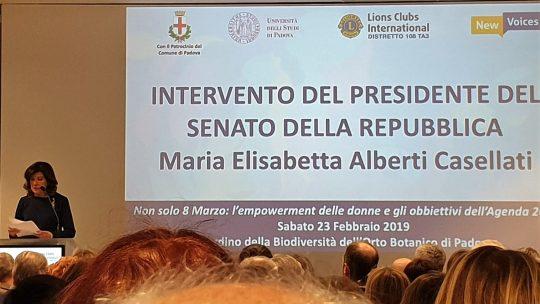23 febbraio 2019 – Intervento della Presidente del Senato Maria Elisabetta Casellati all'Assemblea Lions del Distretto 108Ta3