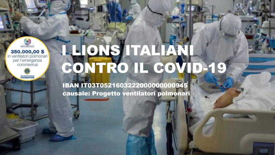 I Lions italiani in piena azione nella lotta al Covid-19 350 mila dollari della Fondazione Internazionale (LCIF)