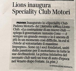 2020-07-08_CORRIERE-DELLA-SERA_Lions-inaugura-Specialty-Club-Motori