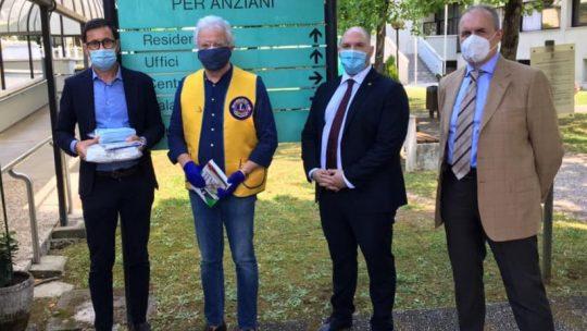 Il Lions Club Padova Graticolato Romano e il Distretto 108TA3 donano materiale anti-Covid ad Altavita Ira – Padova