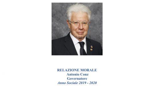 Anno Sociale 2019-2020 – RELAZIONE MORALE  DG Antonio Conz